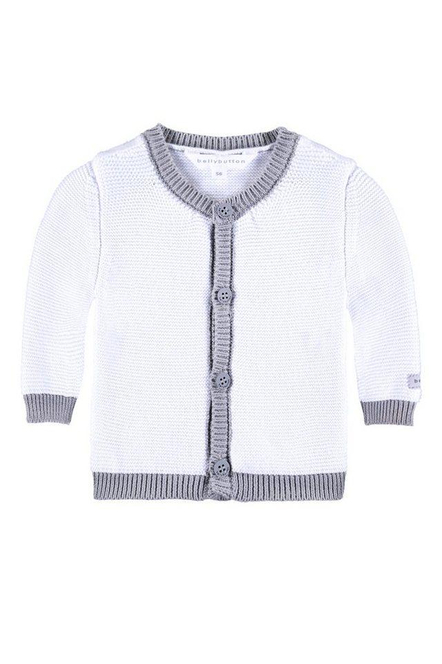 BELLYBUTTON Baby Strickjacke »mit Kante« in bright white