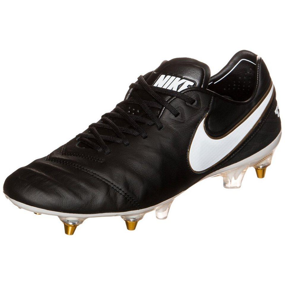 NIKE Tiempo Legend VI SG-PRO Fußballschuh Herren in schwarz / gold
