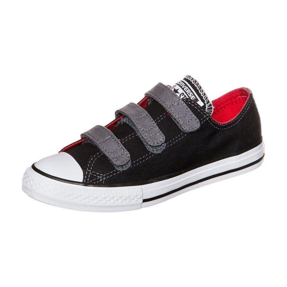 CONVERSE Chuck Taylor All Star 3V OX Sneaker Kinder in schwarz / rot / grau