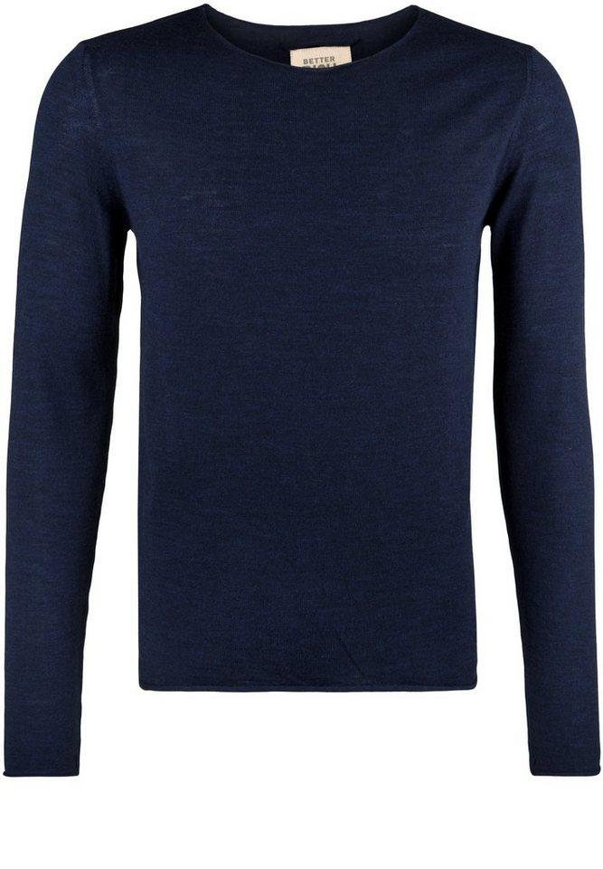 Better Rich Strickpullover »CREW NECK« in parisian blue