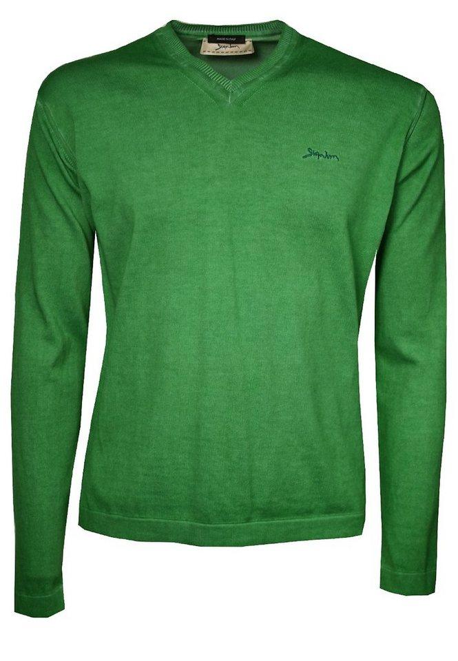 Signum Leichter Pullover mit V-Ausschnitt in porcellain green