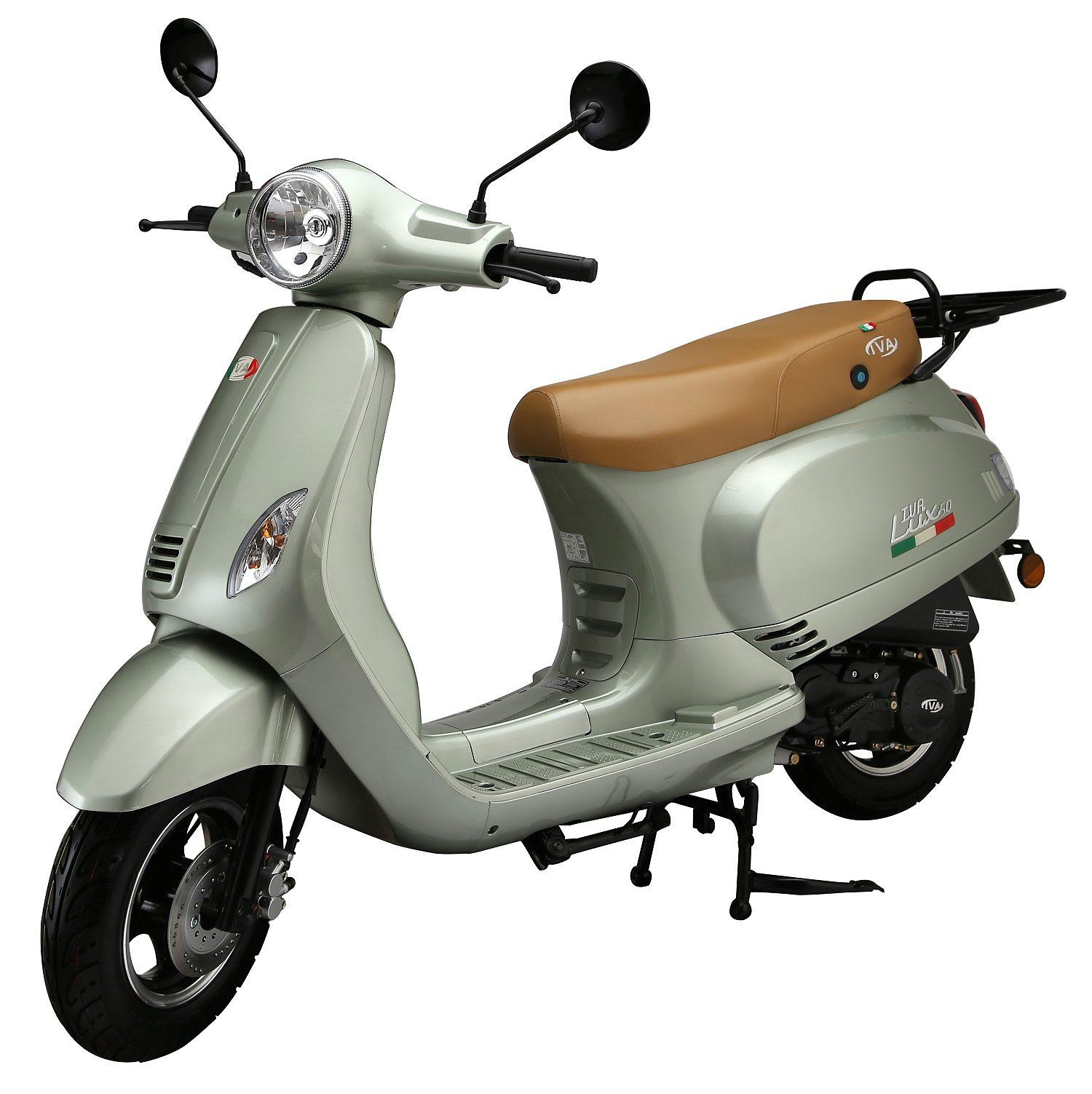 Motorroller, 50 ccm, 3 PS, 45 km/h, für 2 Personen, mintgrün, »LUX«, IVA