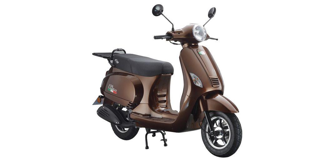 Mofaroller, 50 ccm, 3 PS, 25 km/h, für 1 Person, bronzefarben, »LUX«, IVA