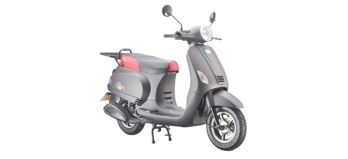 Mofaroller »LUX 50«, 50 ccm 25 km/h, für 1 Person, mattschwarz/rot