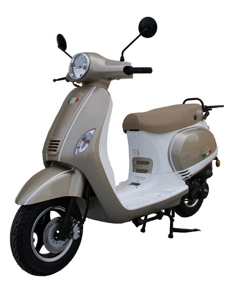Motorroller »LUX 50«, 50 ccm 45 km/h, für 2 Personen, champagner/weiß in champagner/weiß