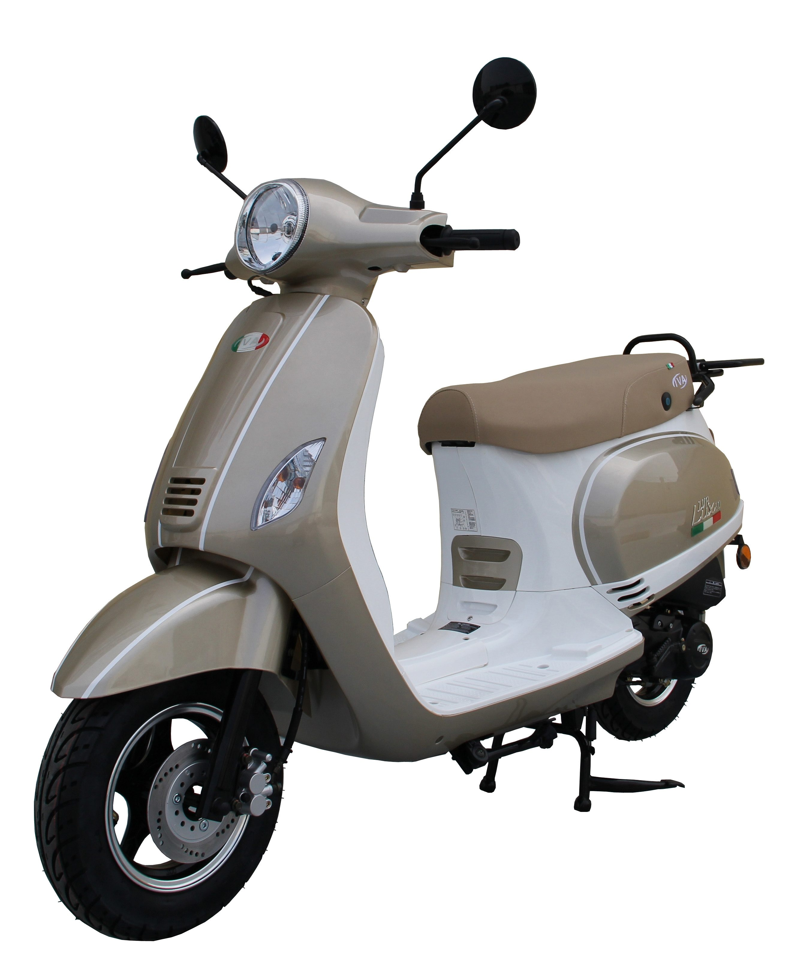 Motorroller »LUX 50«, 50 ccm 45 km/h, für 2 Personen, champagner/weiß