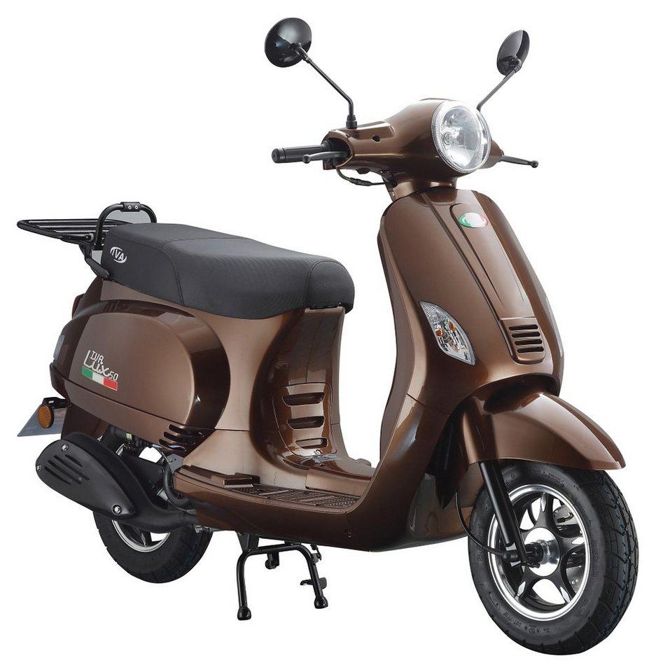 Motorroller, 50 ccm, 3 PS, 45 km/h, für 2 Personen, bronzefarben, »LUX«, IVA in bronzefarben