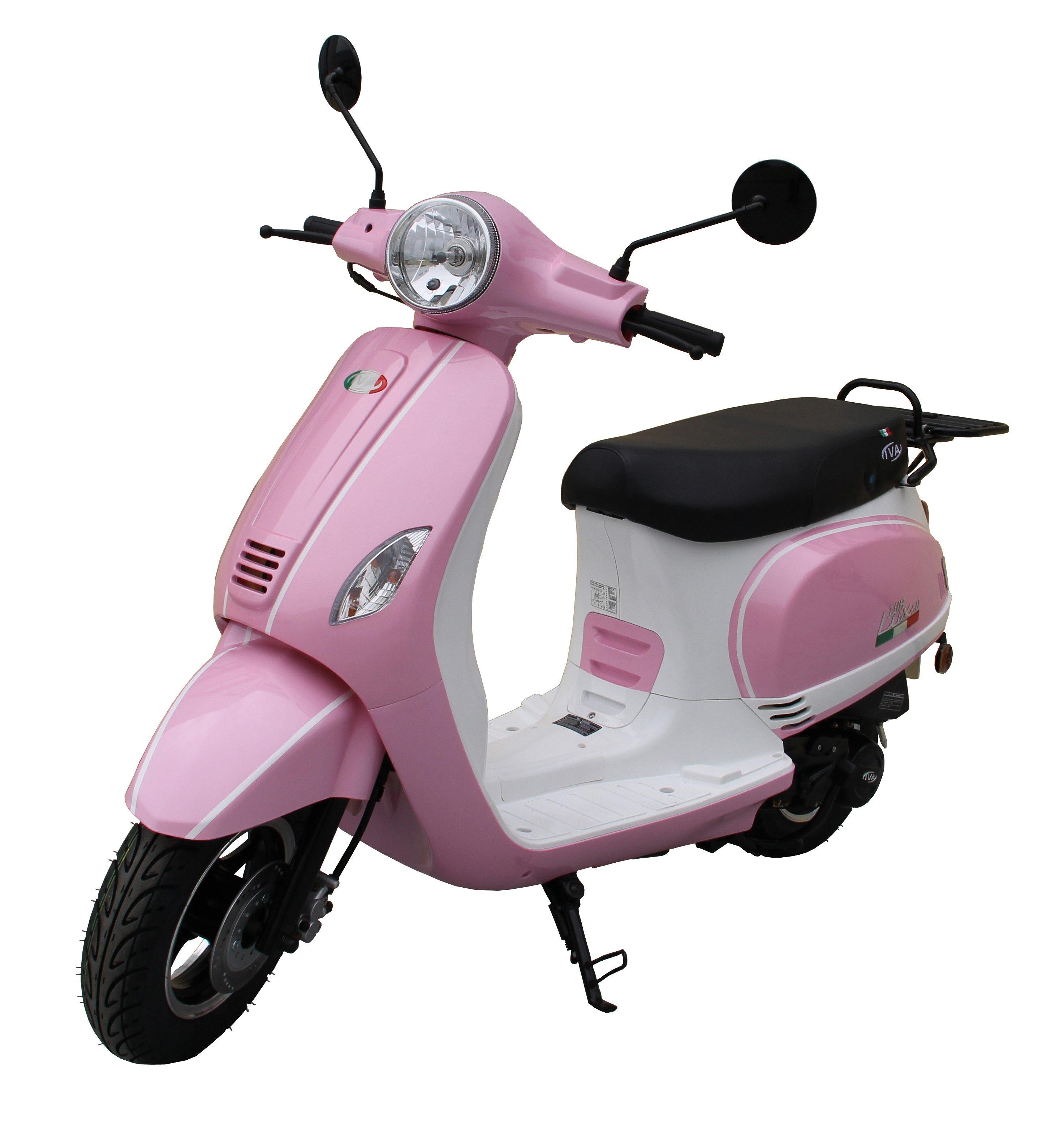 Motorroller »LUX 50«, 50 ccm 45 km/h, für 2 Personen, rosa/weiß