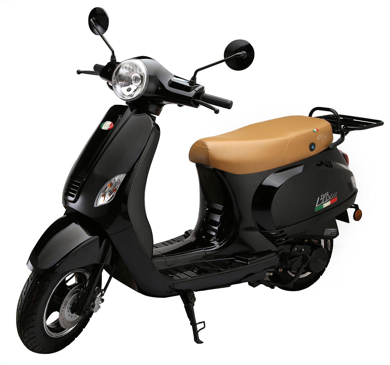 Motorroller »LUX 50«, 50 ccm 45 km/h, für 2 Personen, schwarz/braun