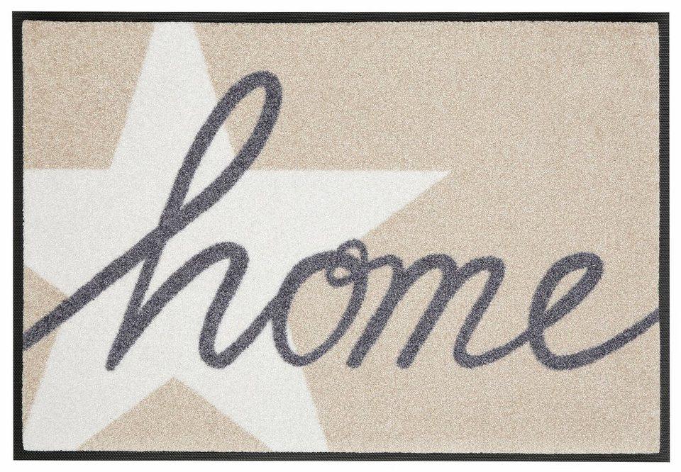 Fußmatte, wash+dry by Kleen-Tex, »Home Star«, rutschhemmend beschichtet in beige-grau