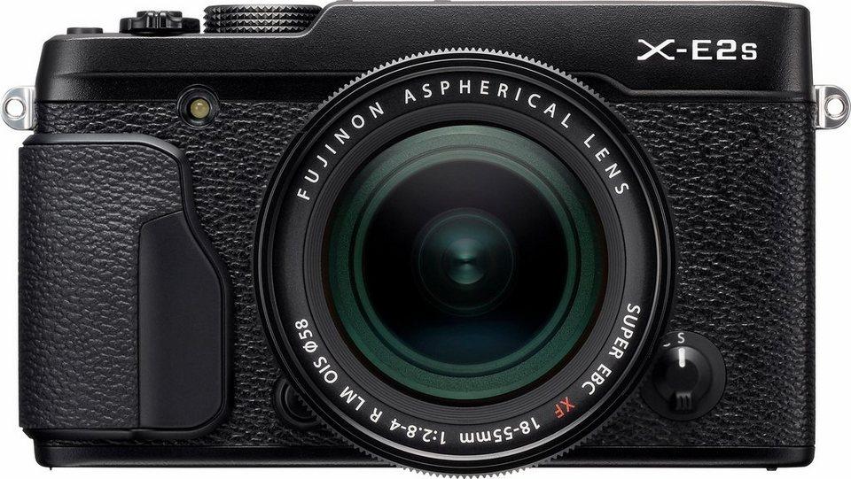 FUJIFILM X-E2S System Kamera, FUJINON XF18-55mmF2.8-4 R LM OIS Zoom, 16,3 Megapixel in schwarz