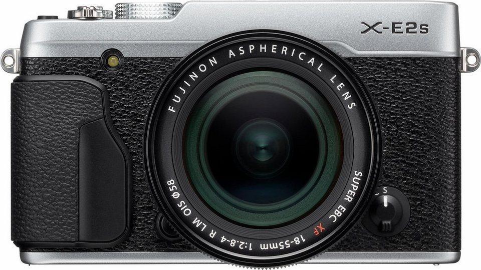 FUJIFILM X-E2S System Kamera, FUJINON XF18-55mmF2.8-4 R LM OIS Zoom, 16,3 Megapixel in silberfarben