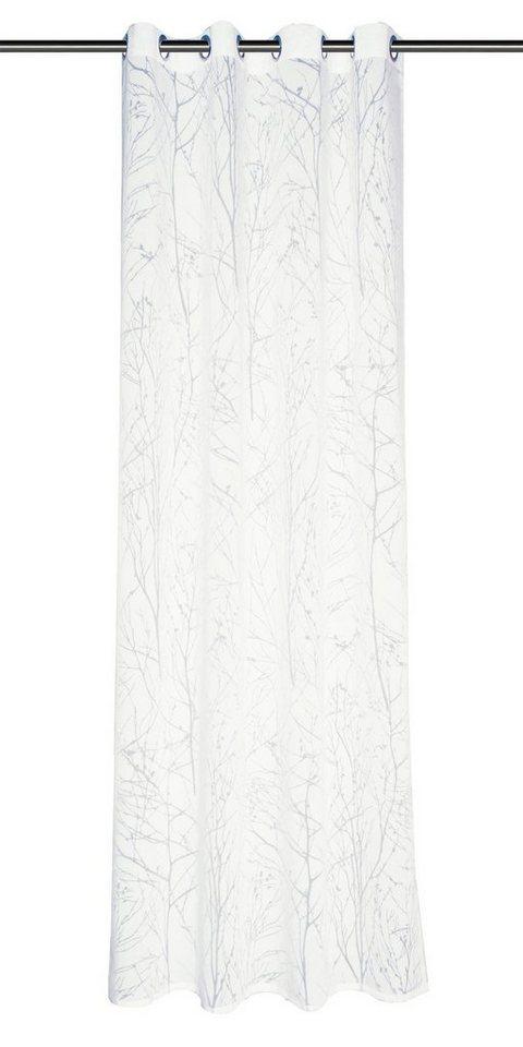 Gardine, Schöner Wohnen, »Twig«, mit Ösen (1 Stück) in weiß