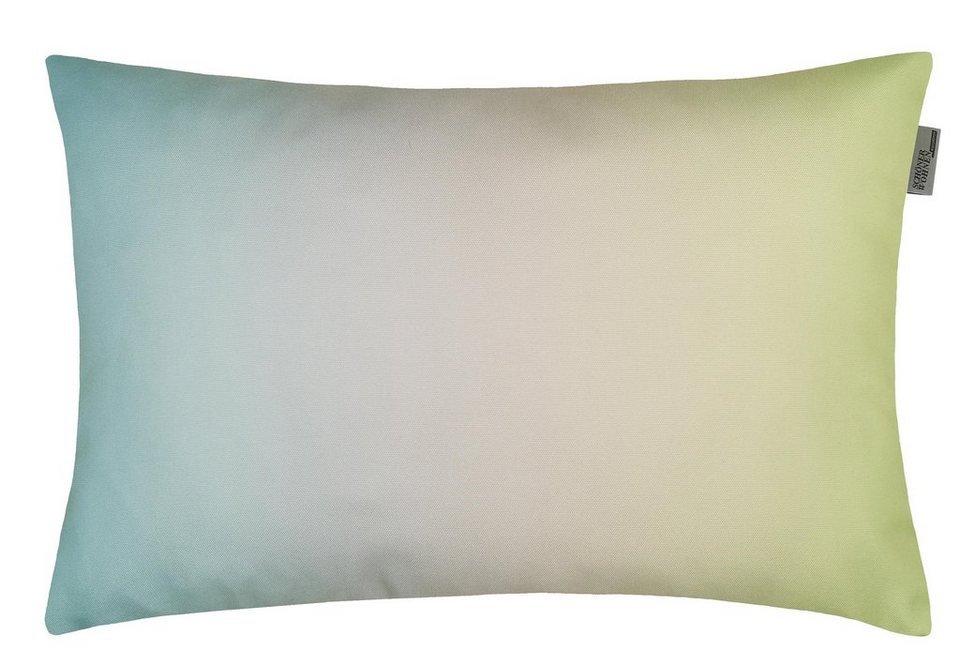 Kissenhülle, Schöner Wohnen, »Watercolor« (1 Stück) in aqua-lime