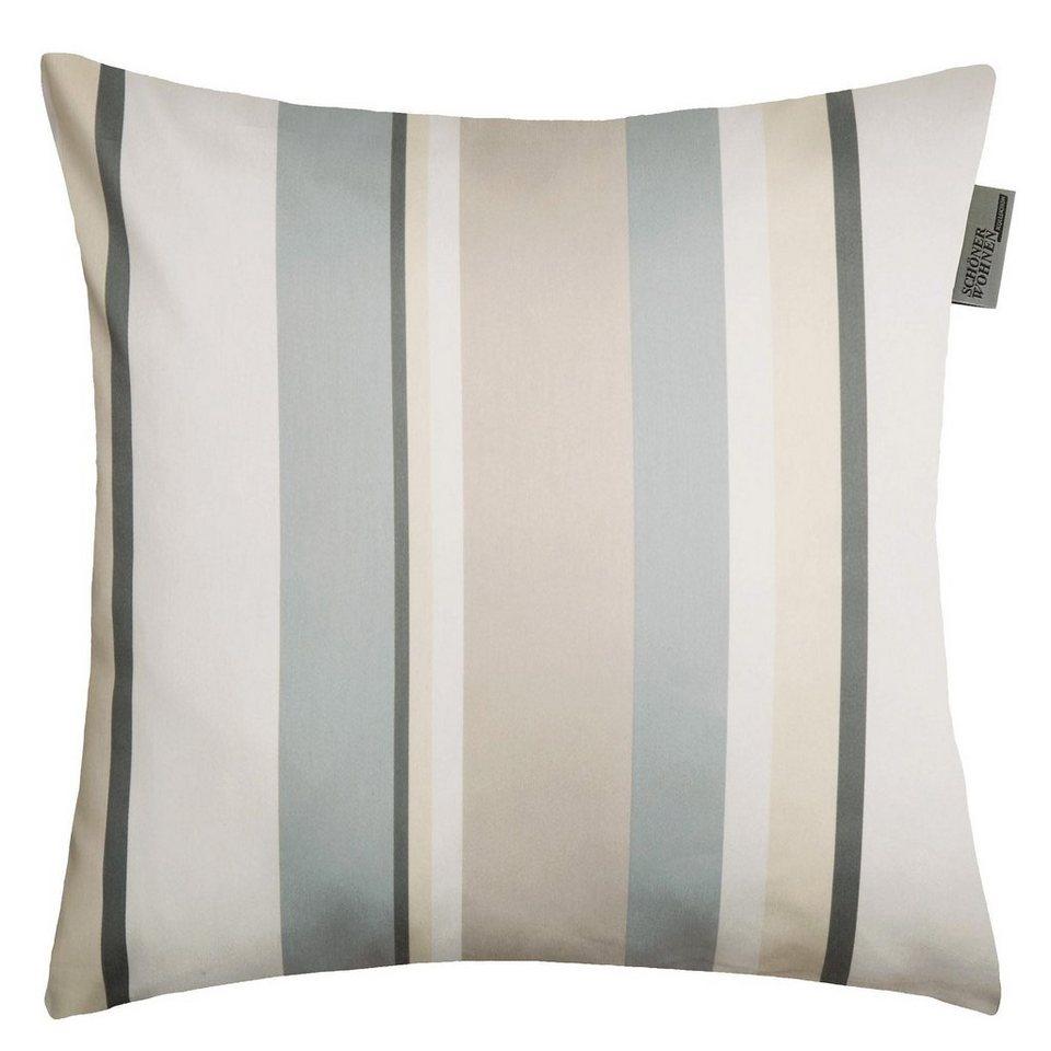 Kissenhülle, Schöner Wohnen, »Stripes« (1 Stück) in grau-beige