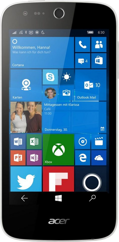 Acer Liquid M330 Smartphone, 11,4 cm (4,5 Zoll) Display, LTE (4G), Windows 10 Mobile, 5,0 Megapixel in weiß