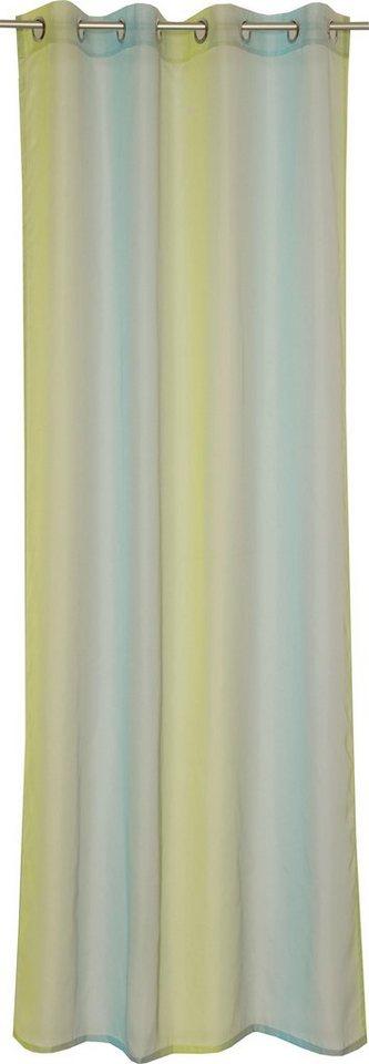 Gardine, Schöner Wohnen, »Corso«, mit Ösen (1 Stück) in aqua