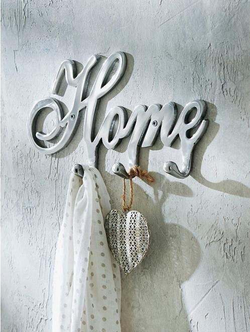 Home affaire Garderobe »Home« in silberfarben
