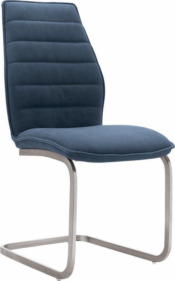 set one by Musterring Freischwinger »Boston« (2er-Set), mit trendigem Jeansbezug in blau