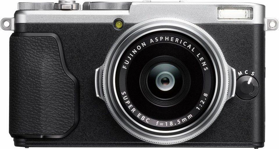 FUJIFILM X70 Kompakt Kamera, 16,3 Megapixel, 7,6 cm (3 Zoll) Display in silberfarben