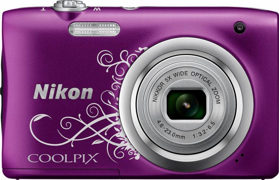 NIKON Coolpix A100 Kompakt Kamera, 20,1 Megapixel, 5x opt. Zoom, 6,7 cm (2,7 Zoll) Display in violett