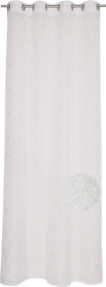 Gardine, Esprit, »Urban Ivy«, mit Ösen (1 Stück) in white