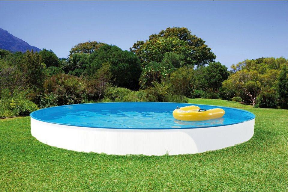 Clear Pool Set: Rundpool »Spar-Set 10-tlg.« in 9 verschiedenen Größen in weiß