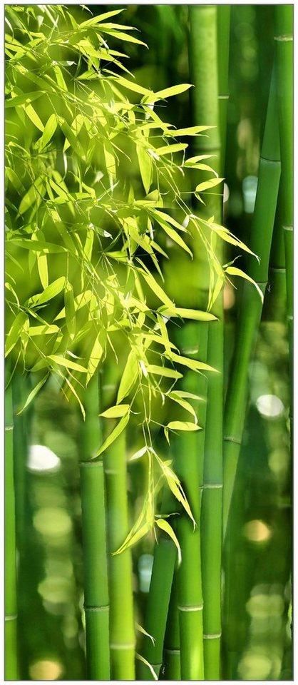 Badrückwand »shower«, Bambus, in 2 Breiten in grün