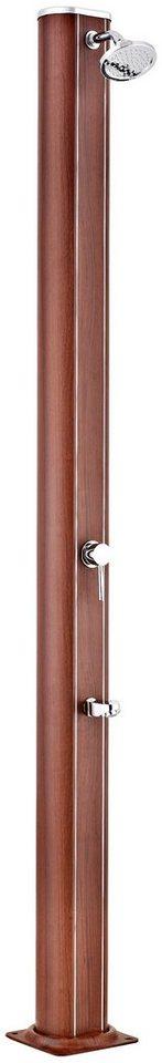 Solardusche »in Holzoptik, Höhe: 210 cm« in braun
