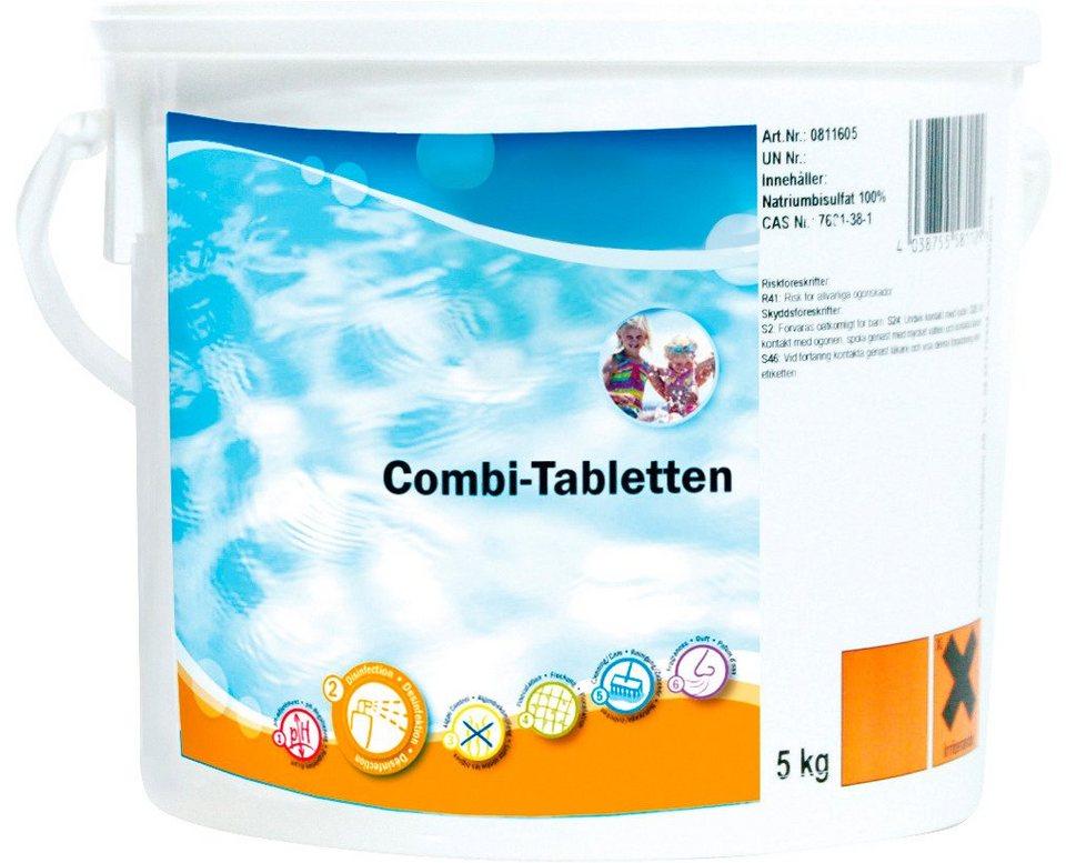 Wasserpflege »Combi-Tabletten 5,0 kg Eimer« in weiß