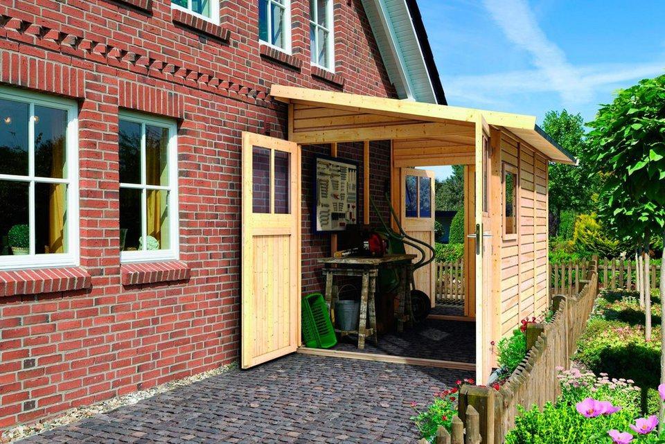 Komplett-Set: Gartenhaus »Wandlitz 3«, BxT: 181x268 cm in natur