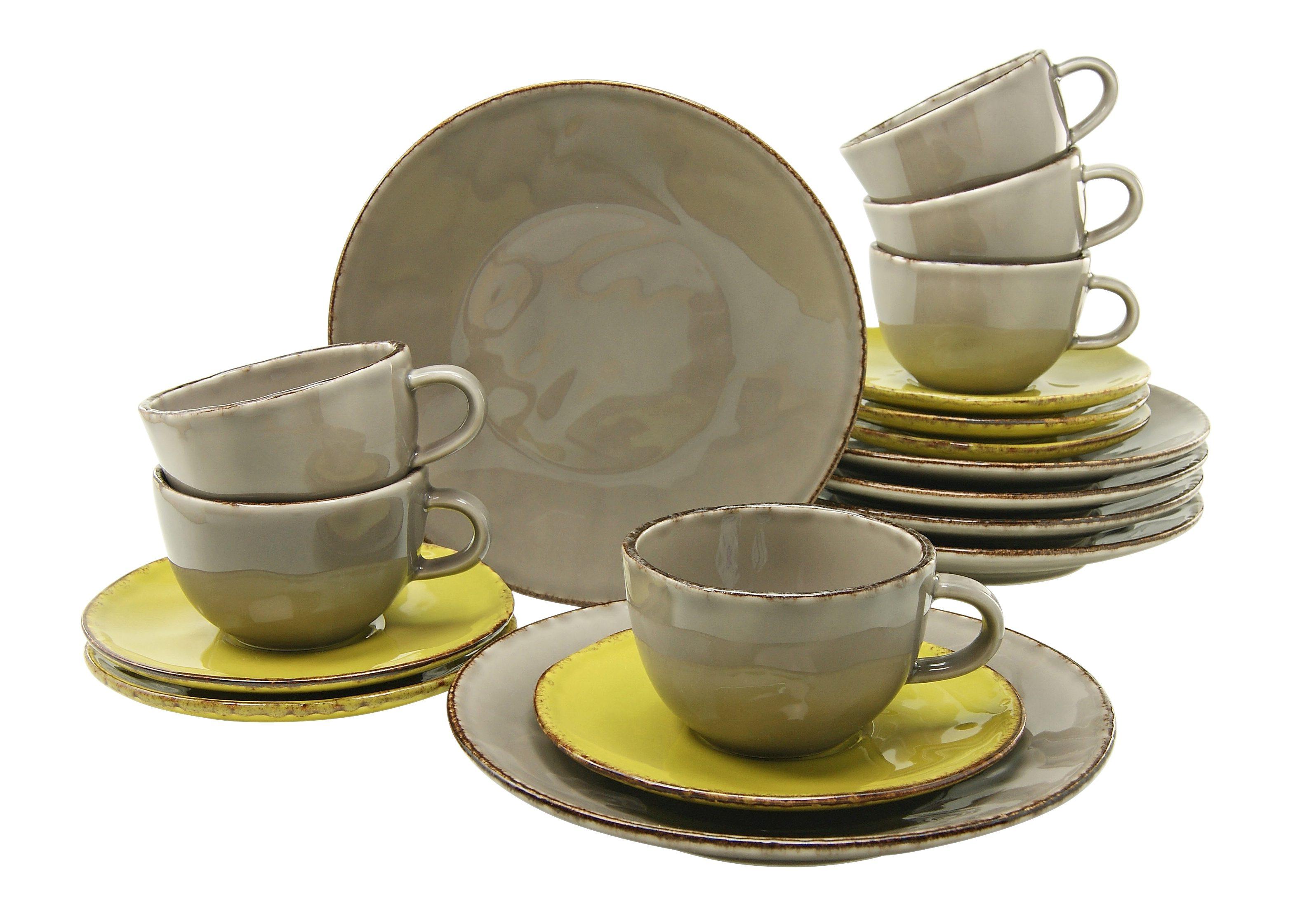 CreaTable Kaffeeservice Steingut, »ORGANIC« (18tlg.)