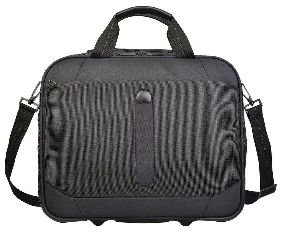 DELSEY Business Trolley mit 2 Rollen und 14-Zoll Laptopfach, »Bellecour« in schwarz
