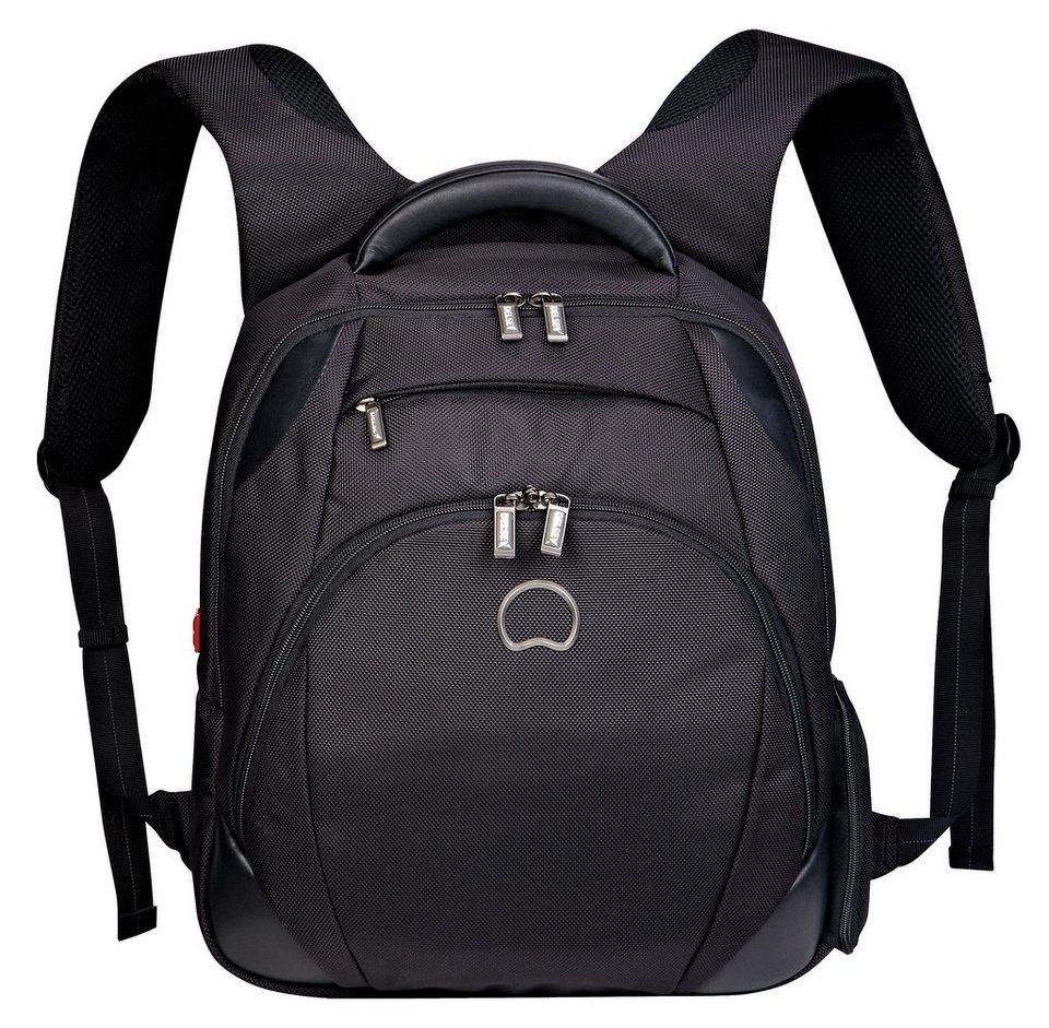 DELSEY Rucksack Notebookfach, »Quarterback+« in schwarz