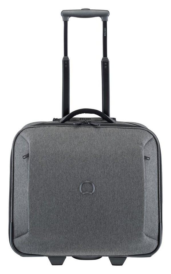 DELSEY Business Trolley mit 14-Zoll Laptopfach und 2 Rollen, »Mouvement« in pfeffergrau