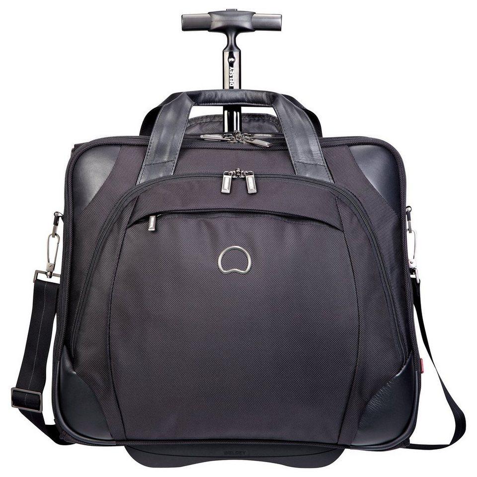 DELSEY Business Trolley mit 2 Rollen und 15,6-Zoll Laptopfach, »Quarterback+«