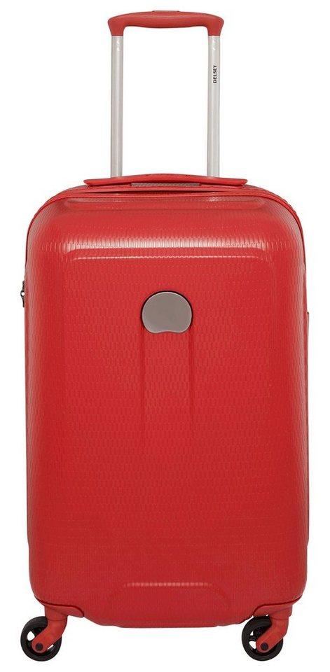 DELSEY Hartschalen Trolley mit 4 Rollen, »Helium Air« in rot