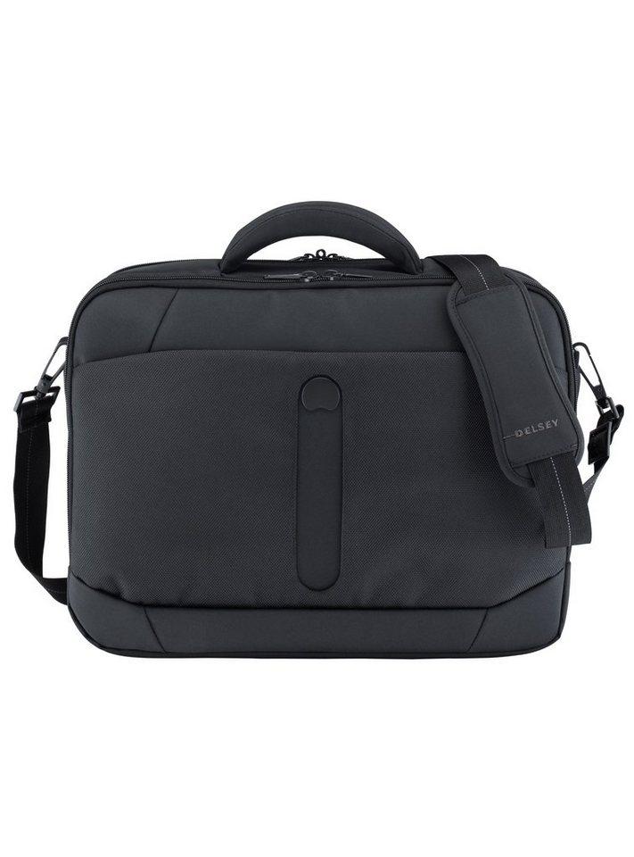 DELSEY Umhängetasche mit 15,6-Zoll Laptopfach, »Bellecour« in schwarz