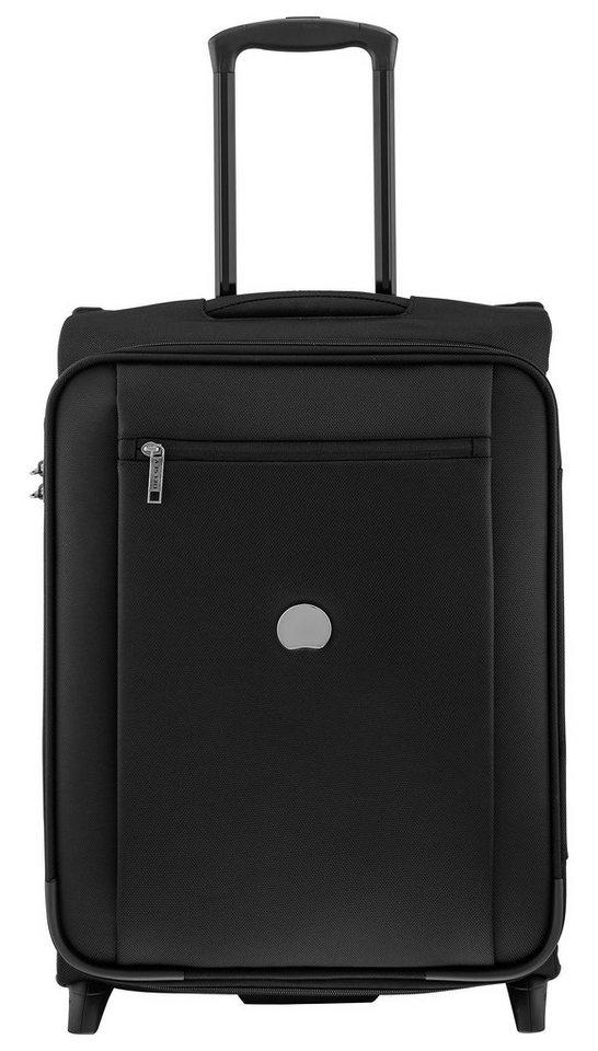 DELSEY Weichgepäck Trolley mit 17-Zoll Laptopfach und 2 Rollen, »Montmartre Pro« in schwarz