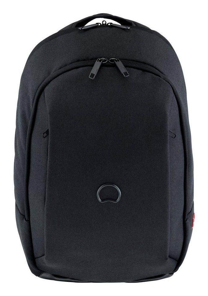 DELSEY Rucksack mit gepolstertem 14-Zoll Laptopfach, »Mouvement« in schwarz