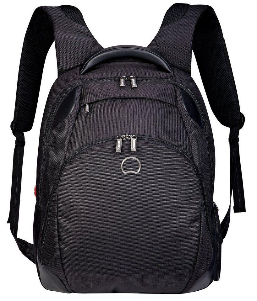 DELSEY Business Rucksack mit 17,3-Zoll Laptopfach, »Quarterback+« in schwarz
