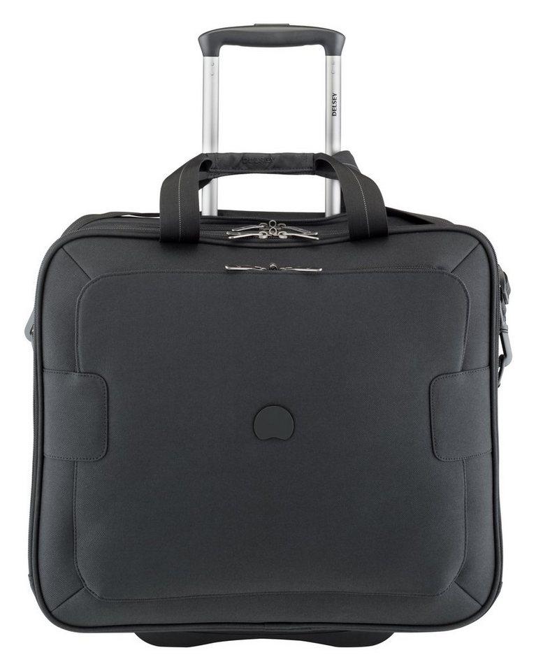 DELSEY Business Trolley mit 2 Rollen und 17,3-Zoll Laptopfach, »Tuilerie« in schwarz