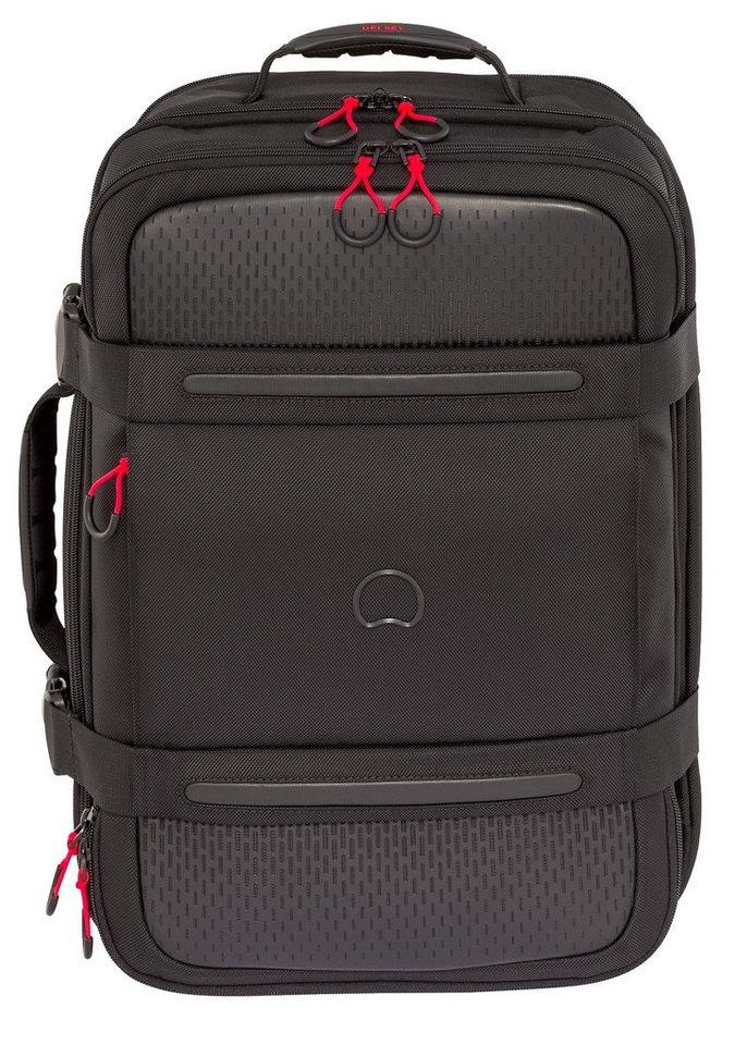 DELSEY Rucksack/Koffer mit 17,3-Zoll Laptopfach, »Montsouris« in schwarz