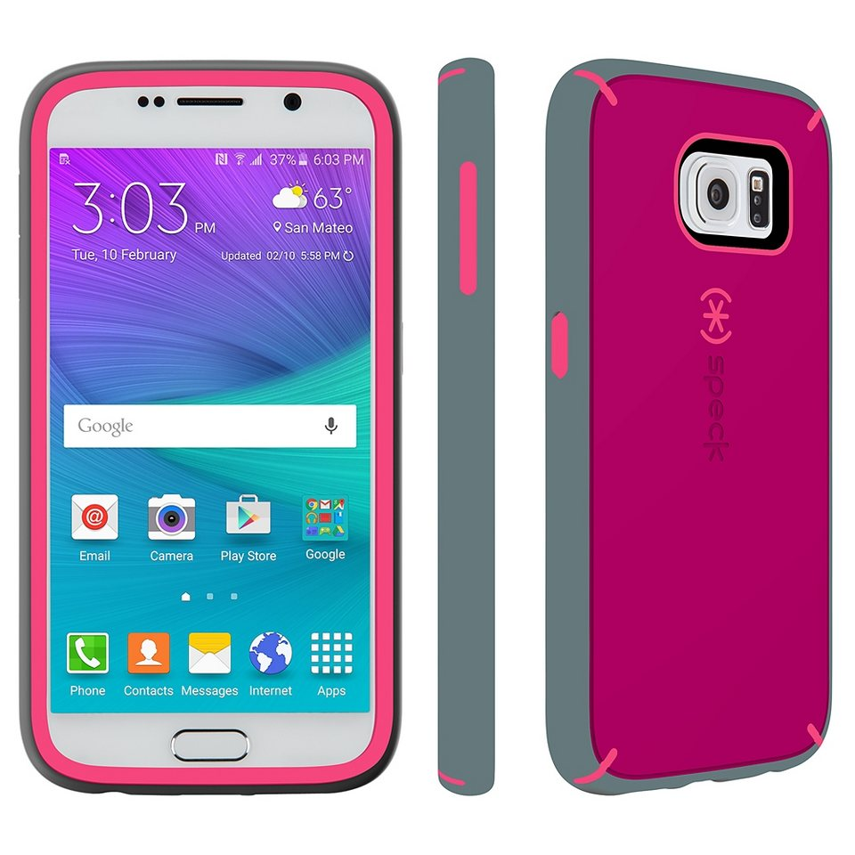 Speck HardCase »MightyShell Samsung Galaxy S6 Fuchsia Pink/Cupcake« in pink