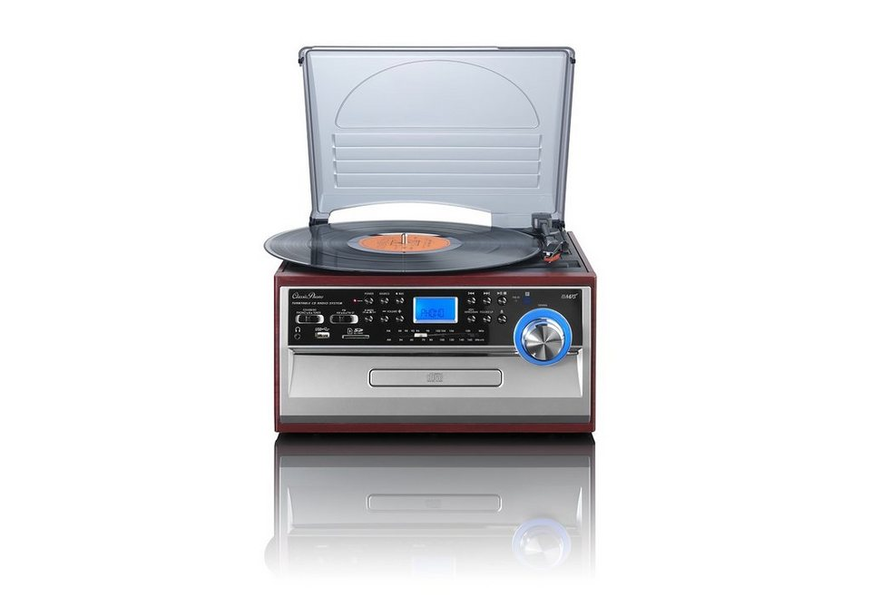 Lenco Plattenspieler mit CD/MP3-Player & UKW/MW-Radio »TCD-974« in silber