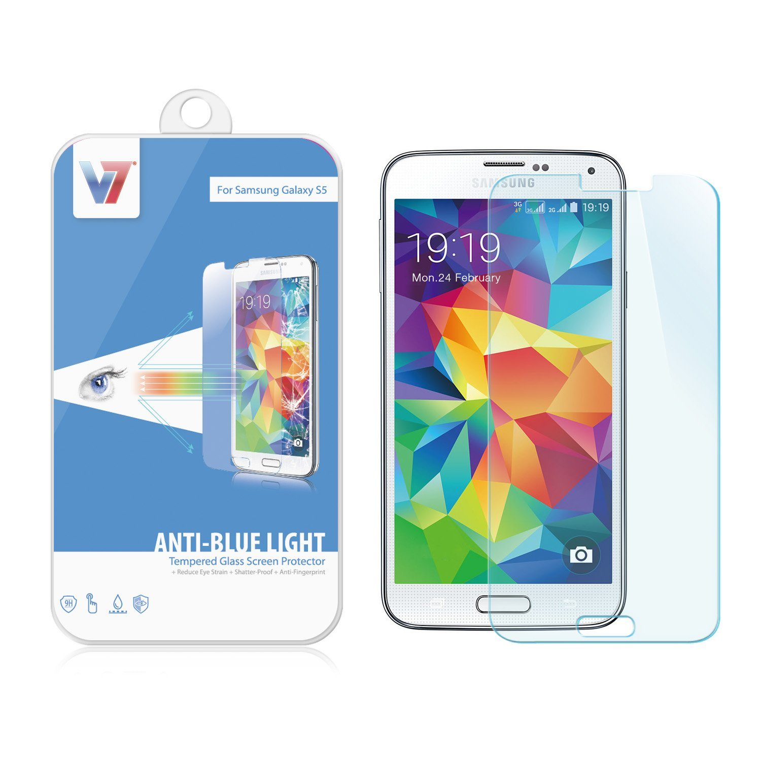 V7 Protection Sheet »+ SAMSUNG S5 SCREEN PROTECTOR«