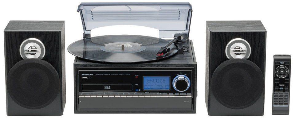 MEDION® Plattenspieler »E69402 (MD 43001)« in Schwarz