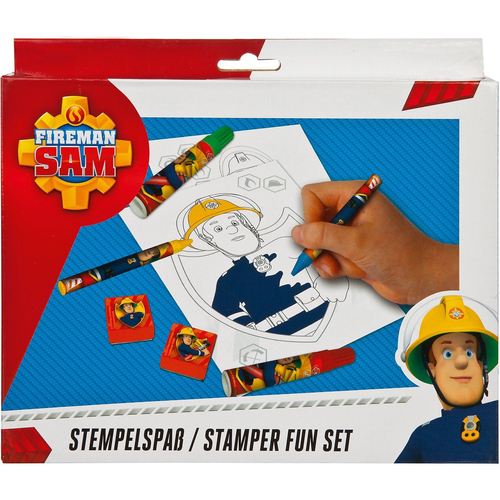UNDERCOVER Kreativset Stempelspaß Feuerwehrmann Sam, 27-tlg.