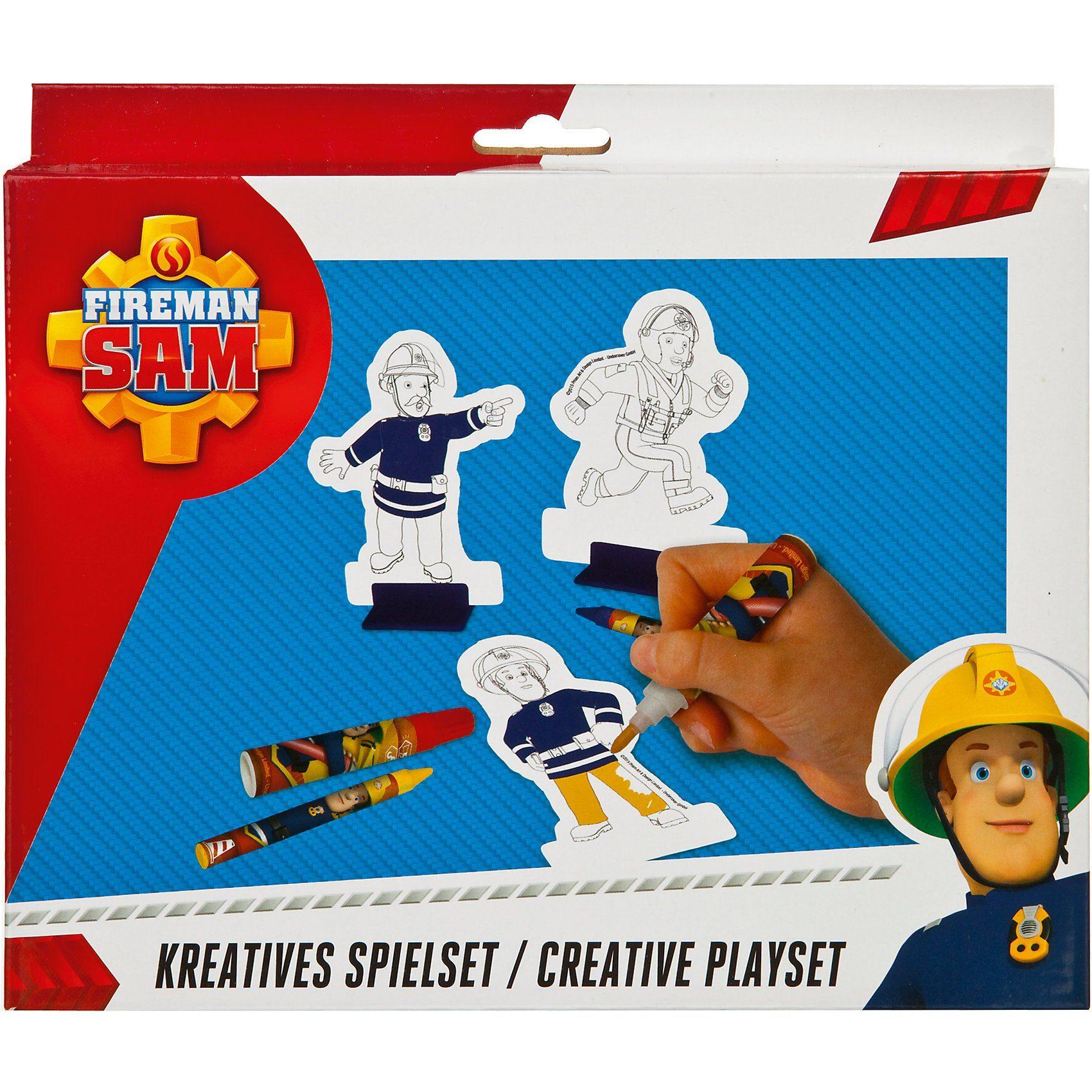 UNDERCOVER Kreativset Spielspaß mit Feuerwehrmann Sam, 34-tlg.