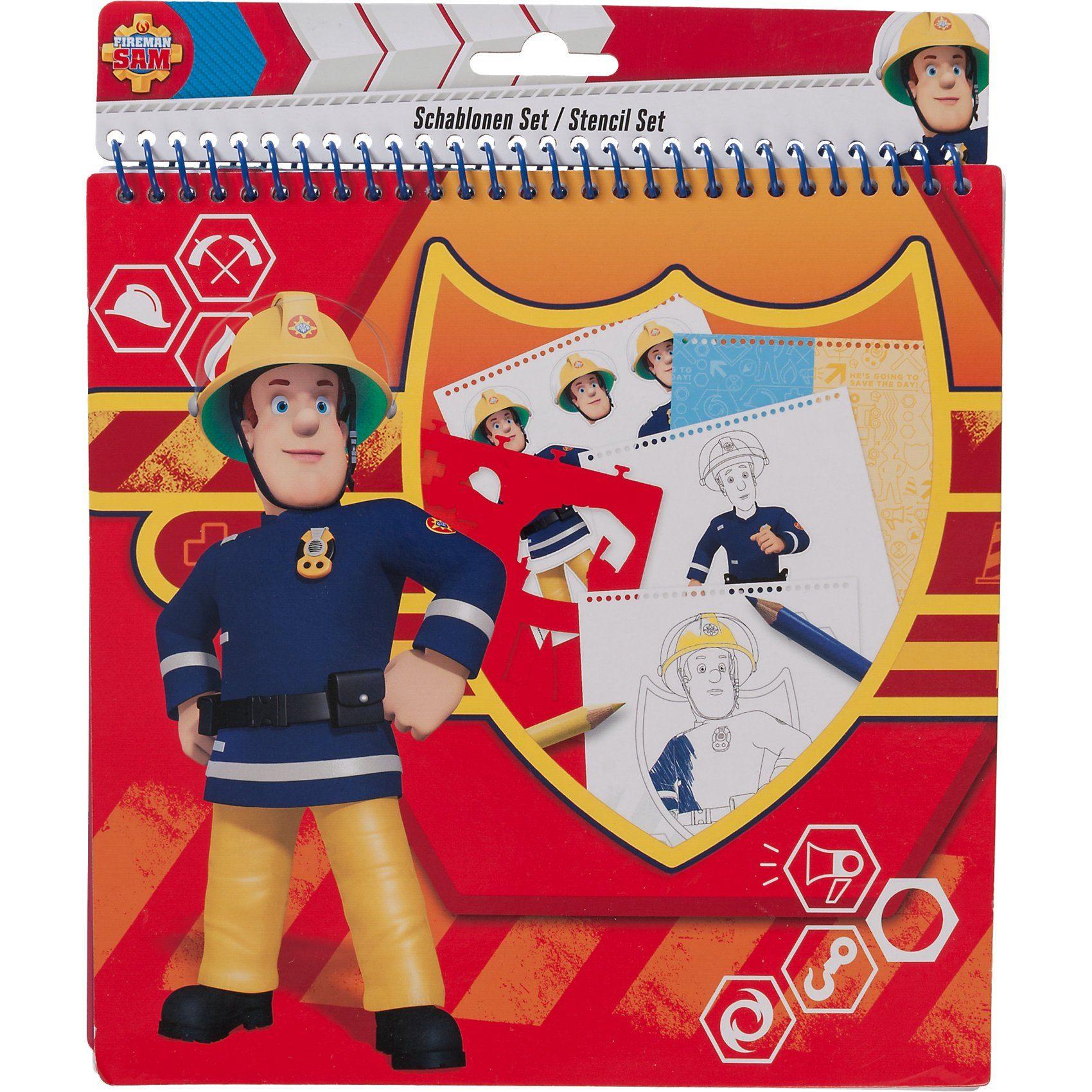 UNDERCOVER Schablonenset groß Feuerwehrmann Sam, 32-tlg.